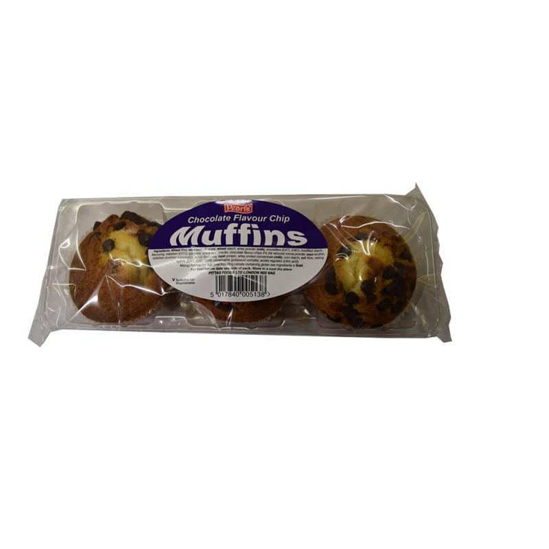 3pk muffins chocolate chip
