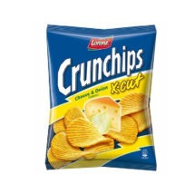 Lorenz Crunch Chips X-Cut Cheese & Onion 150g