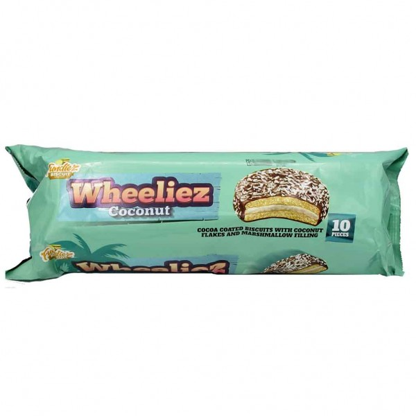 Wheeliez Choc-Coconut Mallow10 Pack 220g