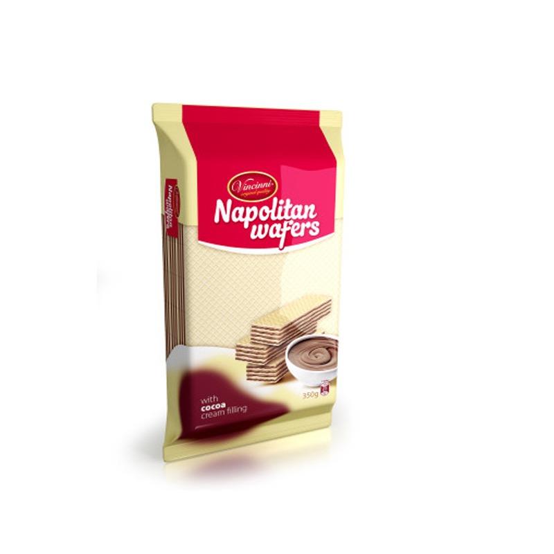Vincinni Napolitan Chocolate Wafers 350g