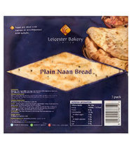 Leicester Bakery Plain Naan Bread 4 pack